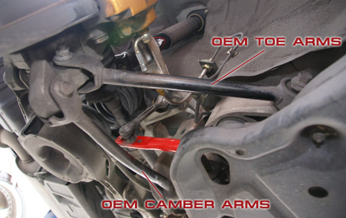 OEM G35 Camber Arm & Toe Arm