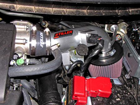 STILLEN Nissan Cube Intake Installed on the Cube's 1.8L MR18DE Engine