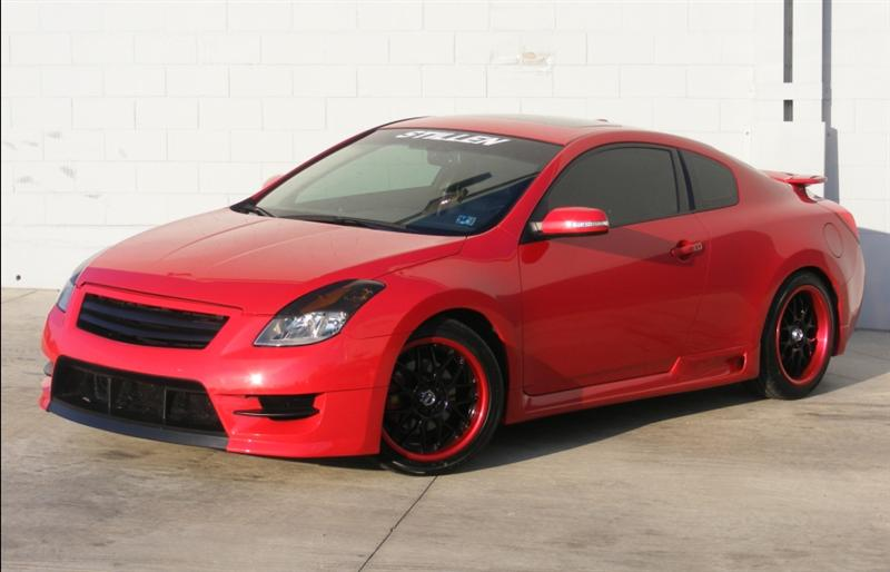Stillen Altima Coupe Fascia With Stillen Side Skirts