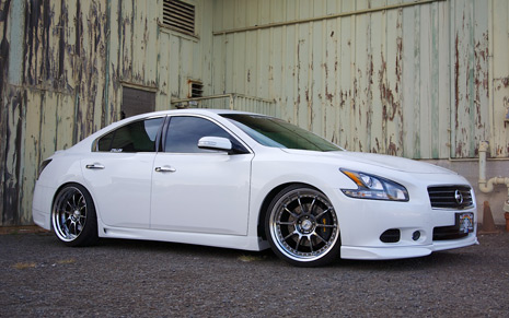 STILLEN 2009 2010 2011 2012 2013 Nissan Maxima Body Kit White Lip Spoiler Side Skirts Rear Corners