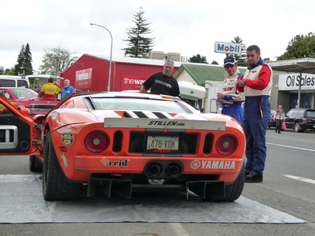 Kyle Millen & Steve Millen with the STILLEN Ford GT at the Targa Rally