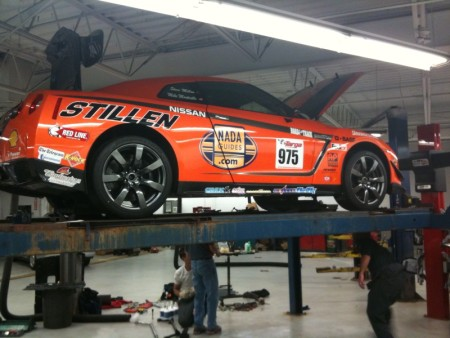 STILLEN GT-R Being Prepped for Tech at the 2009 Targa Newfoundland Rally