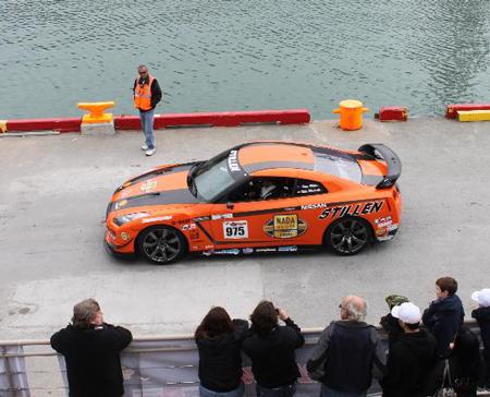 STILLEN GT-R starting prologue stage 2009 Targa Newfoundland Rally
