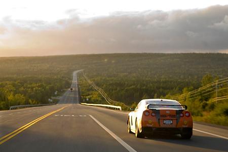 STILLEN GT-R in transit to Gander after Monday's rally stages.