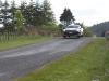 Tony Quinn Jumping in an R35 GT-R at the Targa Rally New Zealand