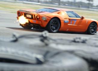 Steve Millen and the STILLEN Ford GT at Auto Club Speedway