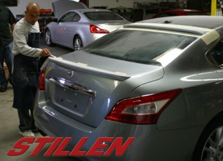STILLEN Maxima Rear Wing on SEMA Car