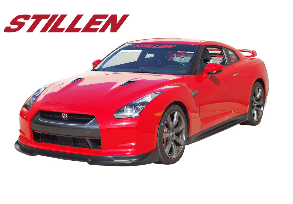 GTRKB12822 2009-11 GT-R STILLEN Splitter Red Oncar 0