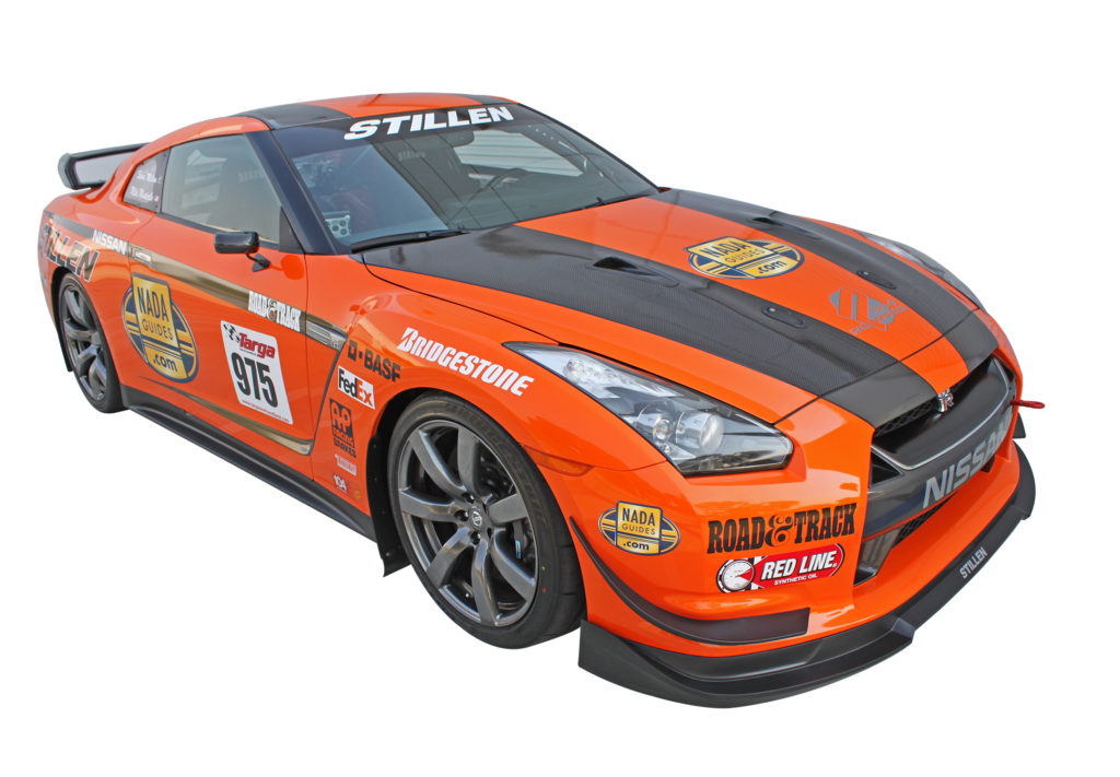 gtrkb128213 2009-12 Nissan GT-R STILLEN Canards Orange OnCar3