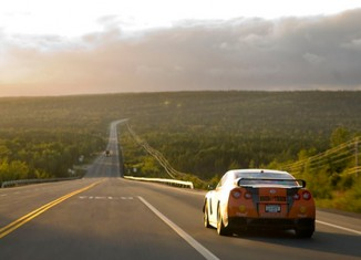 STILLEN GT-R in transit to Gander after Monday's rally stages.