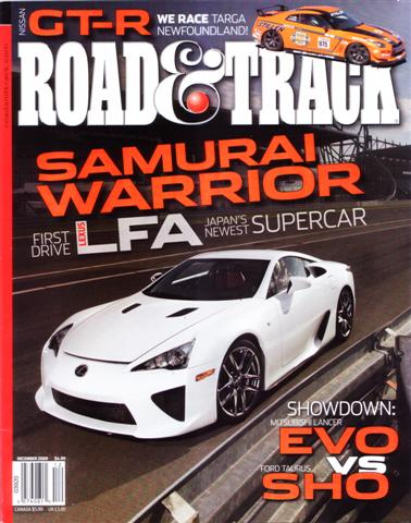 STILLEN GT-R On Cover of Road & Track Dec 09 Issue ...
