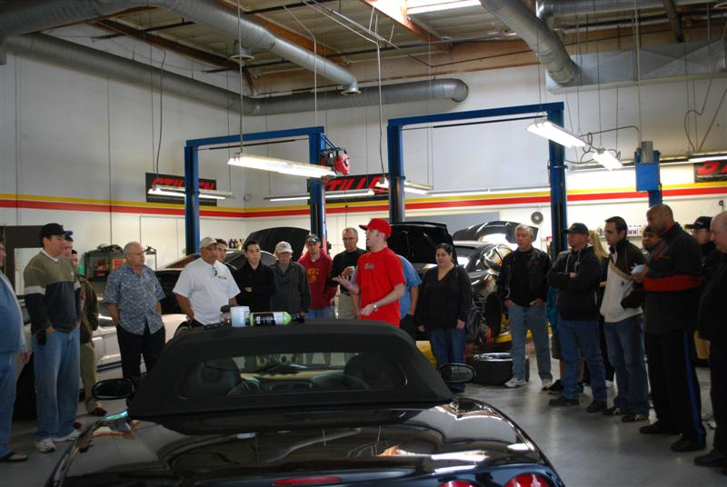 STILLEN customers learning how to polish a car