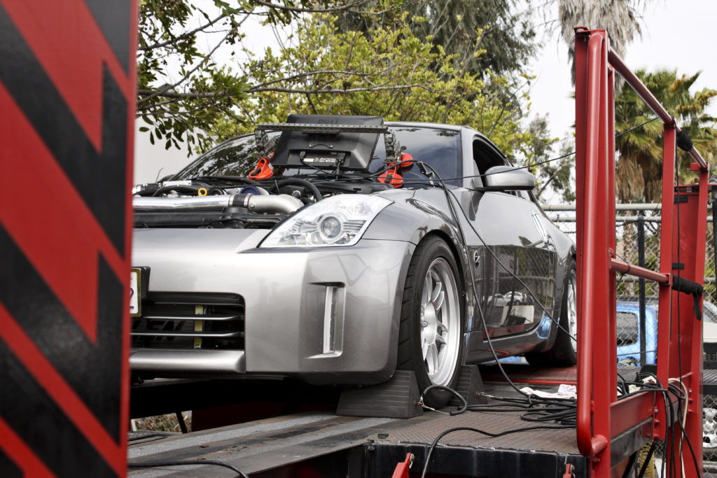 Supercharged Silver 350Z on Dyno-3