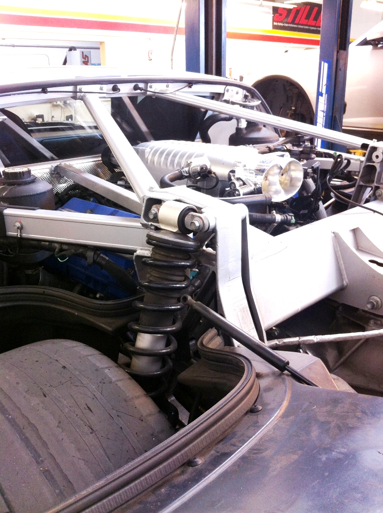 Ford GT Engine Bay Opened for Service