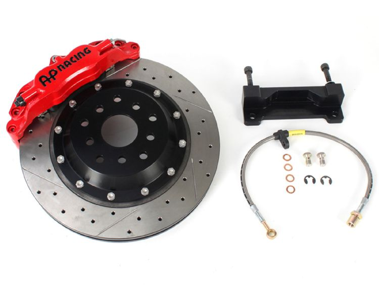 AP Racing 4 Piston Brake Kit in Red for Scion FR-S or Subaru BRZ