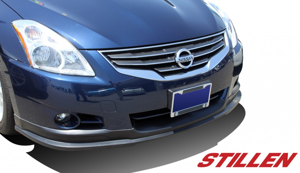 2012 Nissan Altima Sedan STILLEN Front Lip on Blue Altima