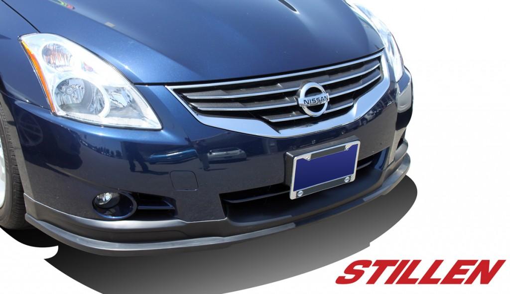2012 Nissan Altima Sedan STILLEN Front Lip on Blue Altima