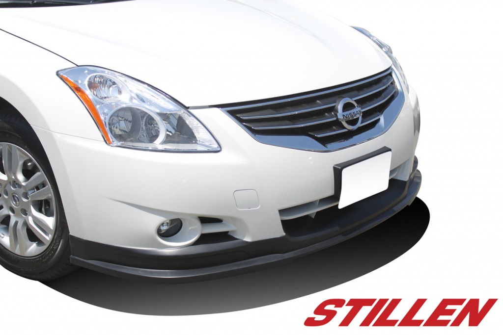 2012 Nissan Altima Sedan STILLEN Front Lip on White Altima