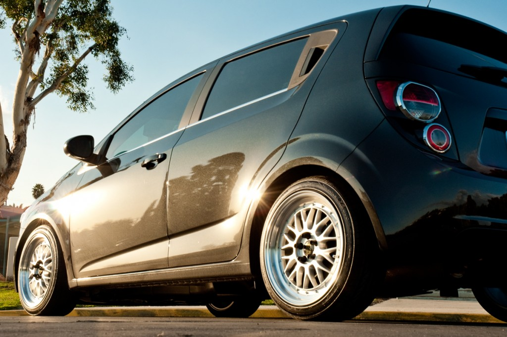 2013 Chevy Sonic Hatchback Lowering Kit Installed