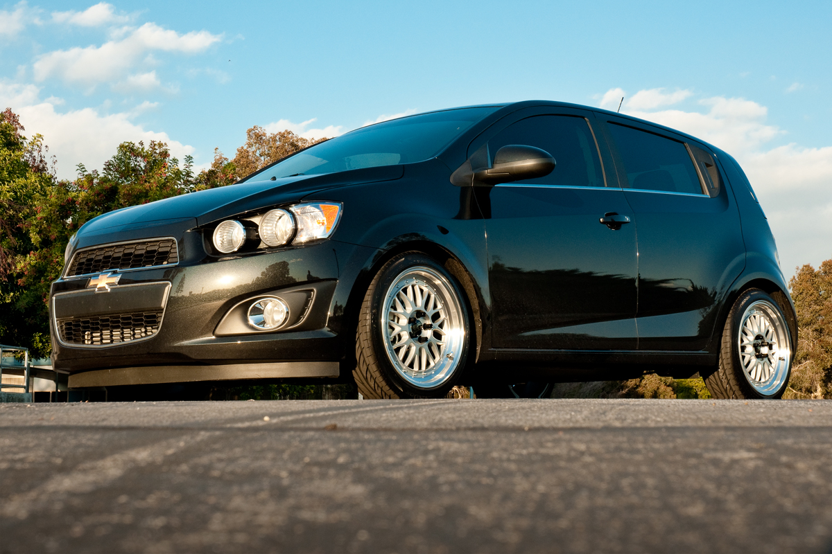 Chevy Sonic Custom >> 2013 Chevy Sonic Hatchback Lowering Kit Installed | STILLEN Garage