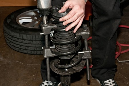 2013 Chevy Sonic Hatchback Stock Springs Compressed