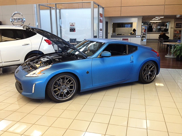 Spotlight East Charlotte Nissan S Custom Matte Blue 370z