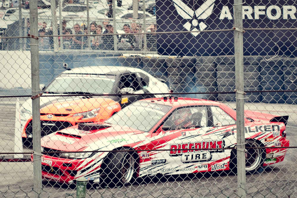 Daijiro Yoshihara Driving in the 2013 Formula Drift Long Beach