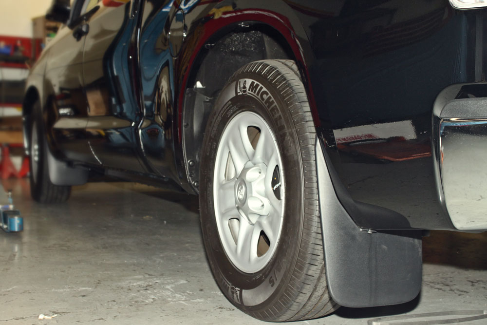 Rear Angle of Lowered 2013 Toyota Tundra