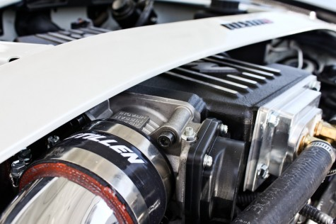 370z stillen supercharger strut bar clearance