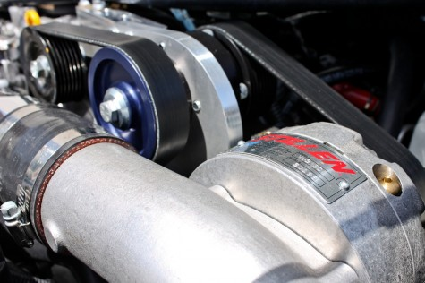 370z stillen supercharger close up