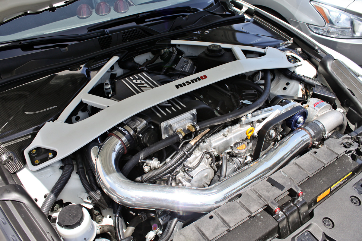 370z nismo with stillen supercharger installed
