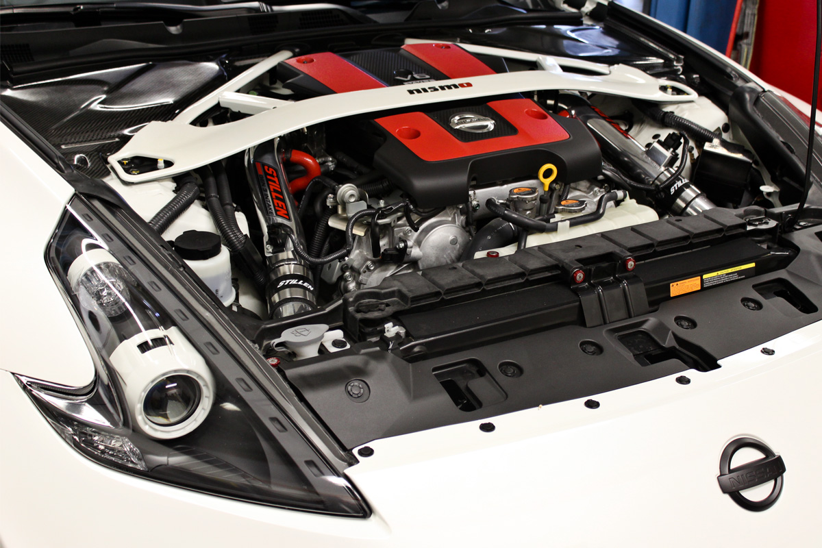 nissan 370z nismo engine bay