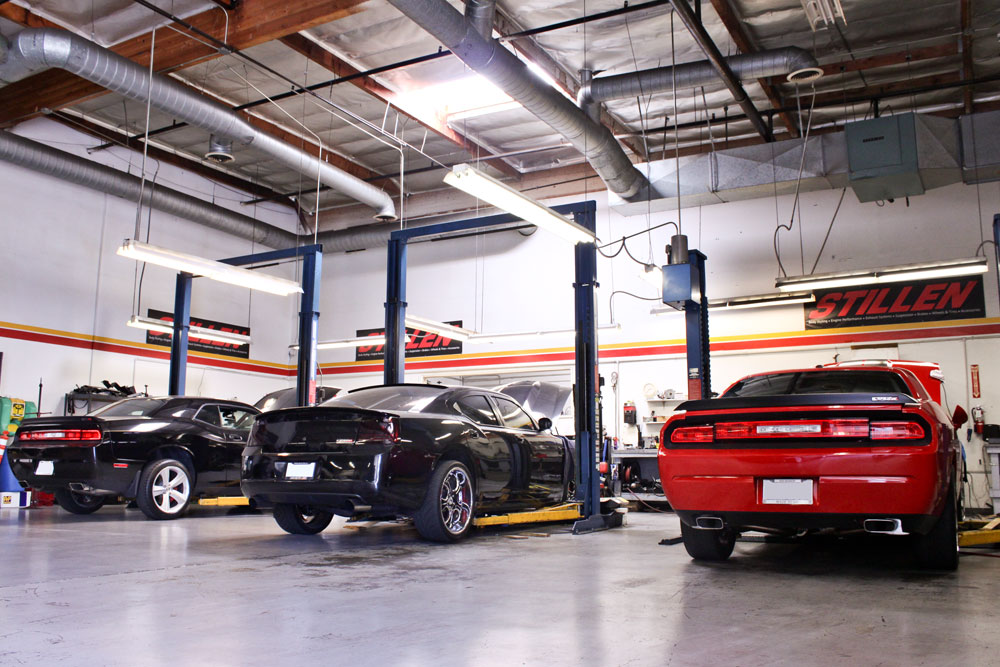 2 Dodge Challernger SRT8s and a Dodge Charger at STILLEN