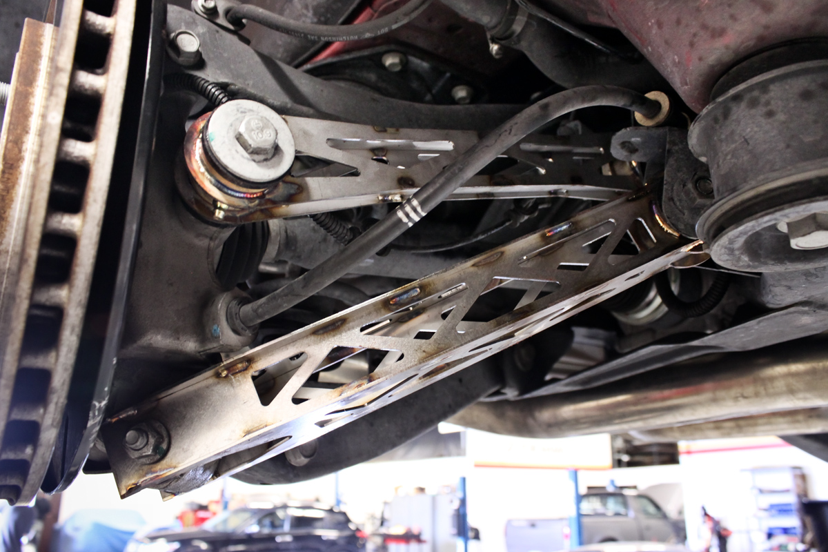 Camaro SS Pfadt Rear Tie Rod and Rear Trailing Arm Installed