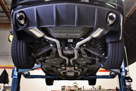 Camaro SS Magnaflow Catback Exhaust Installed bottom view