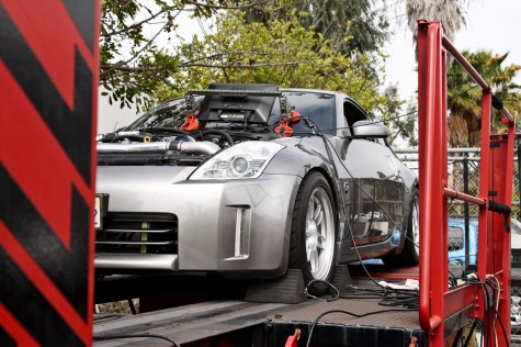 Supercharged Nissan 350Z on Dyno