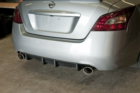stillen maxima rear diffuser installed  side angle