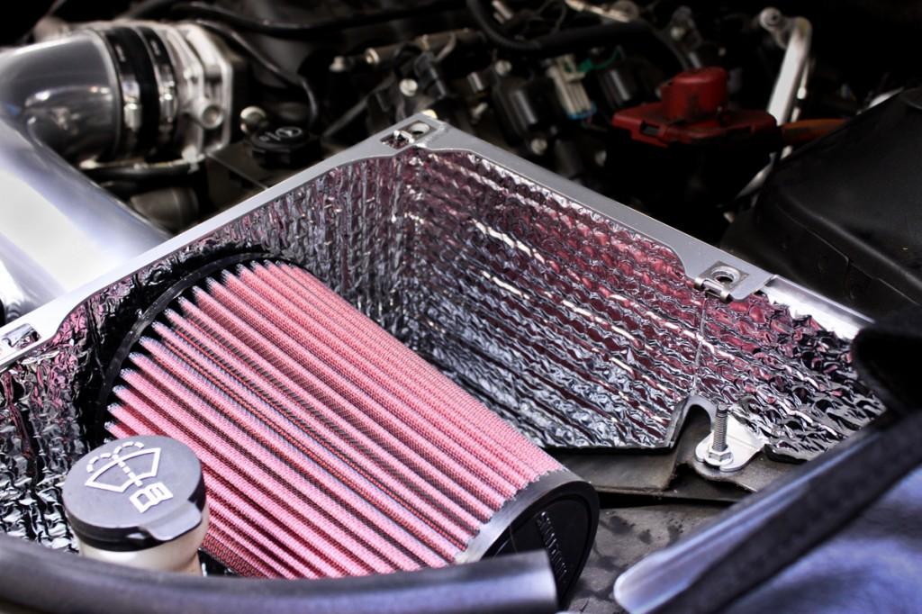 camaro cold air inductions intake close up