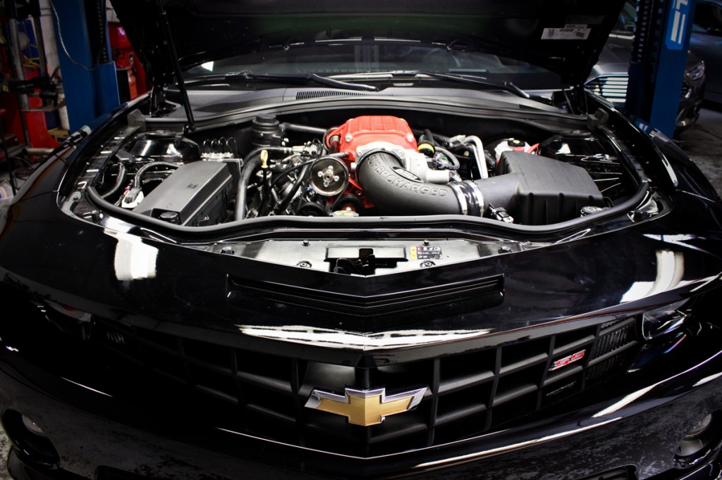 Wrinkle Red Magnuson Corvette Supercharger Install