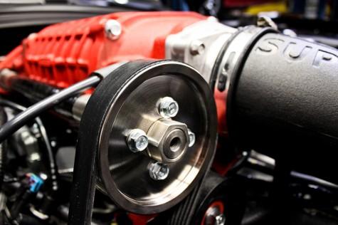 Wrinkle Red Magnuson Supercharger Close Up