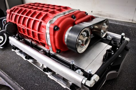 Wrinkle Red Magnuson Camaro Supercharger