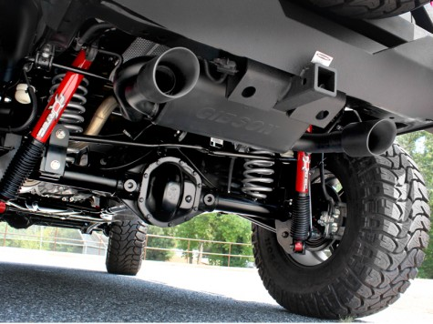Black Ceramic Jeep Wrangler Exhaust