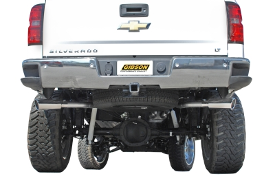 Gibson Dual Rear Exiits Behind Rear Tires 2014 Silverado Exhaust