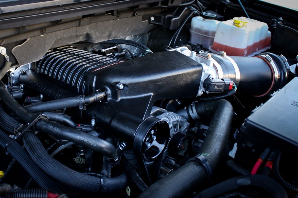 Ford Raptor Supercharger engine view