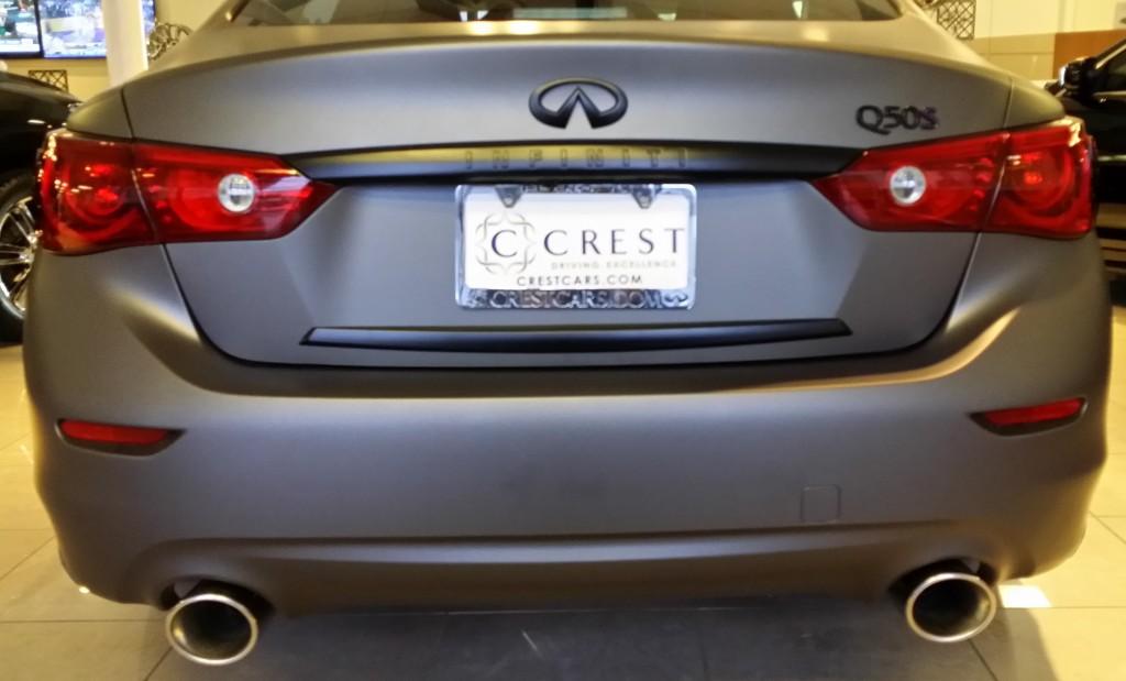 Crest Infiniti Q50 rear