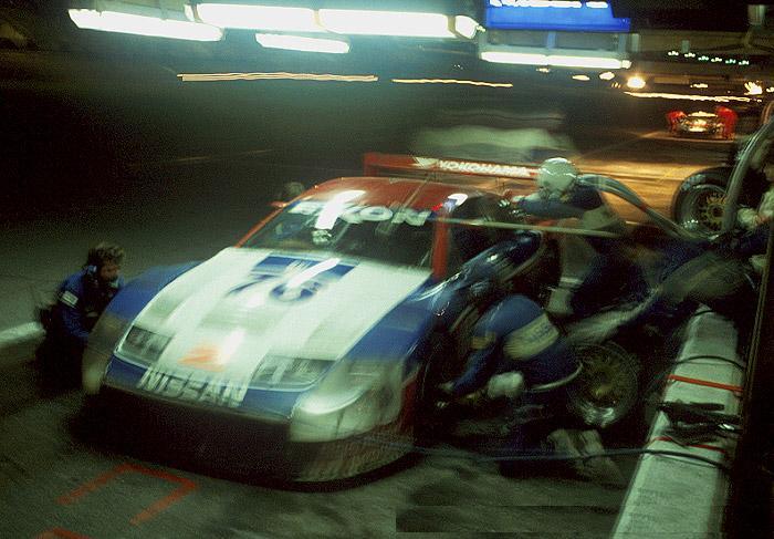 Pit stop 24 hours of Daytona