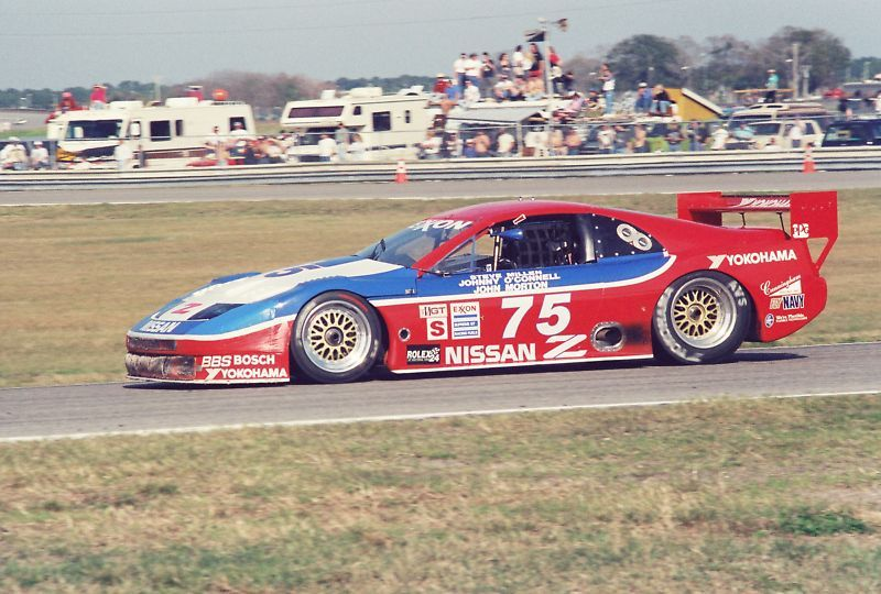 Steve Millen driving the Nissan 75 300ZX-Trubro car