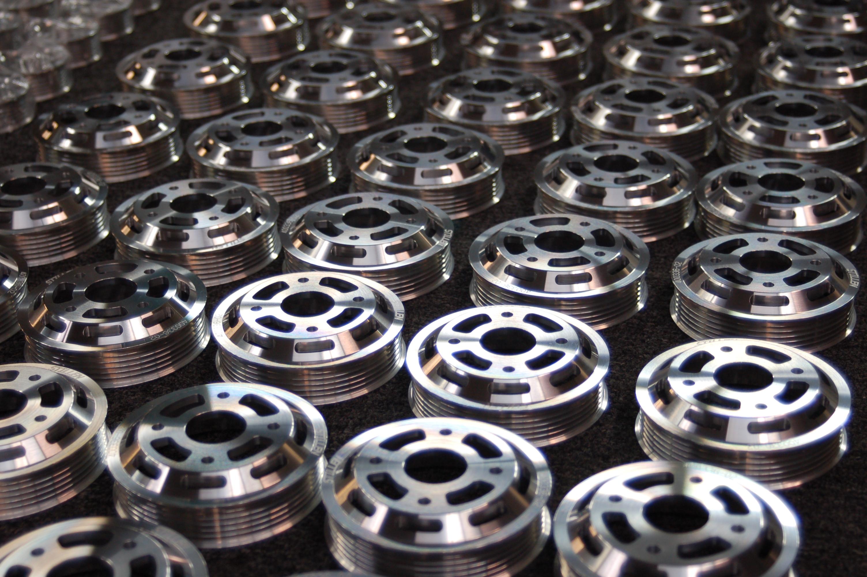 Stillen lightweight aluminum pulleys inventory