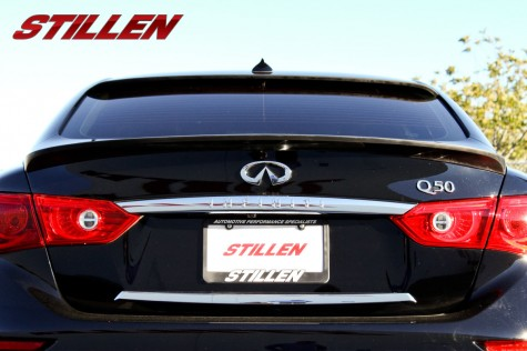 Stillen 2014 Infiniti Q50 rear deck wing and window wing full rear shot