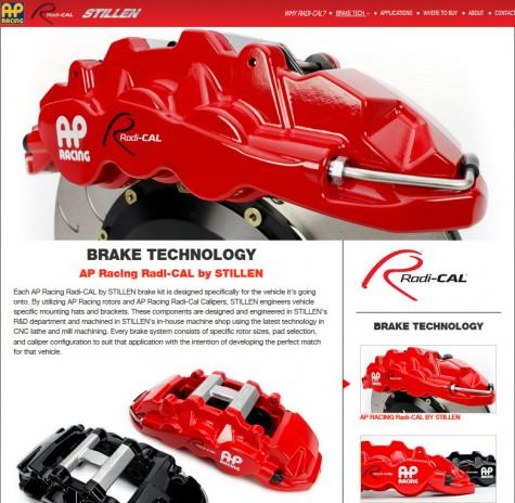 AP Racing Rad-CAL web site image